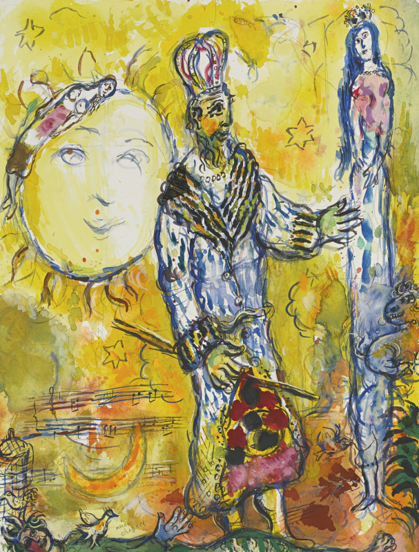 """Marc Chagall. Study for """"the Magic flute"""""""
