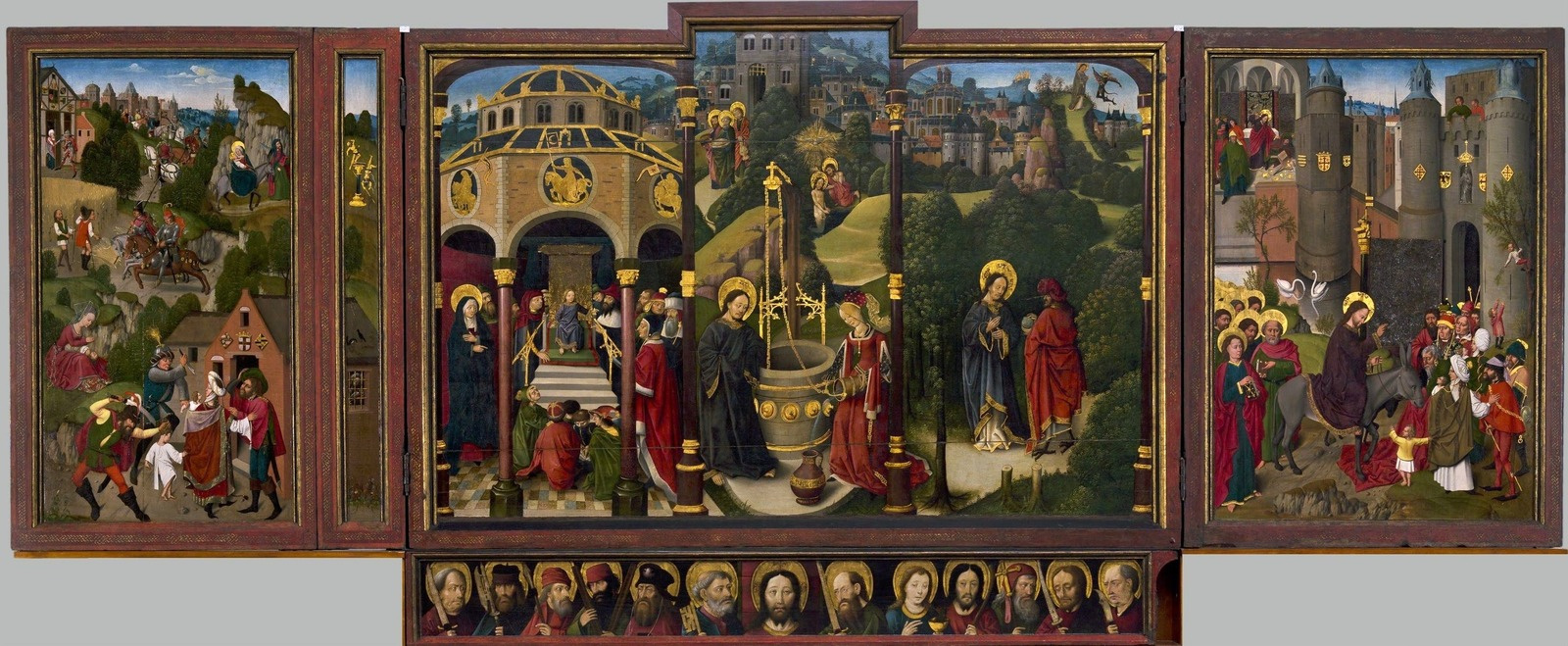 Unknown artist. Jerusalem triptych. 1497-1500