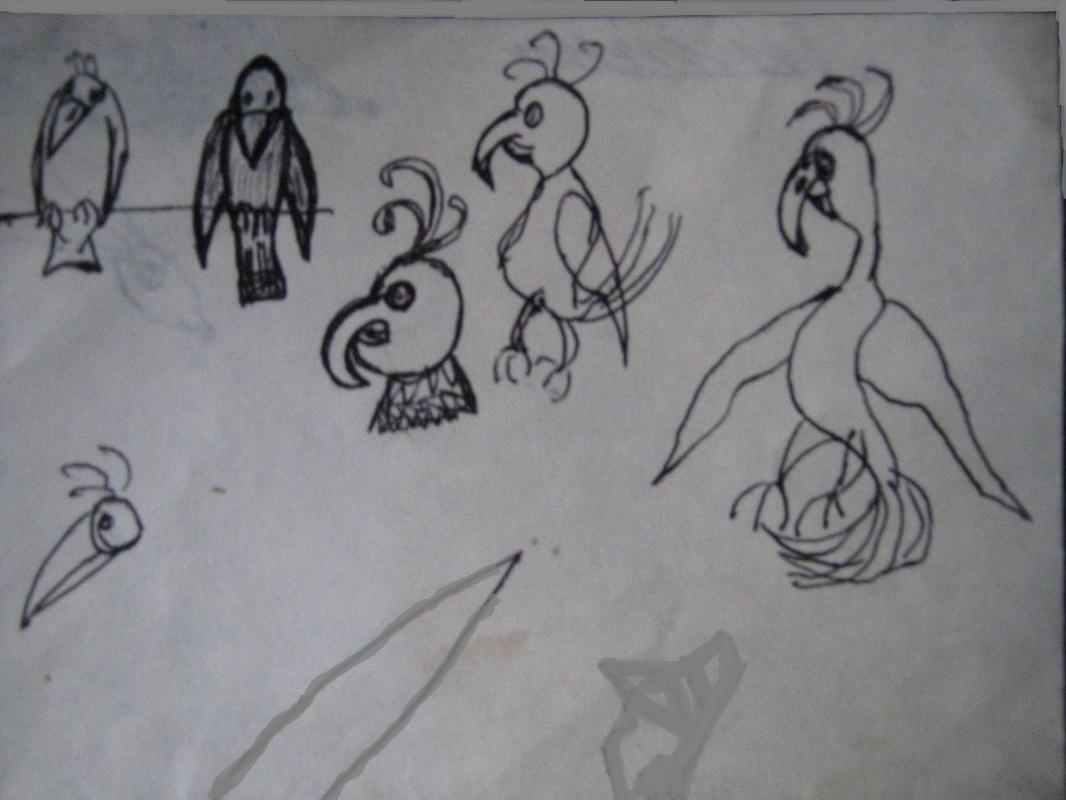 "Alexey Grishankov (Alegri). ""Parade of parrots. Parade of parrots"""