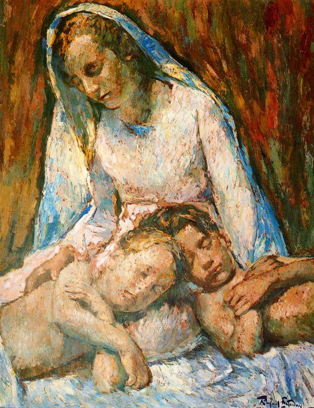 Рафаэль Эстрани. Мать и спящие дети