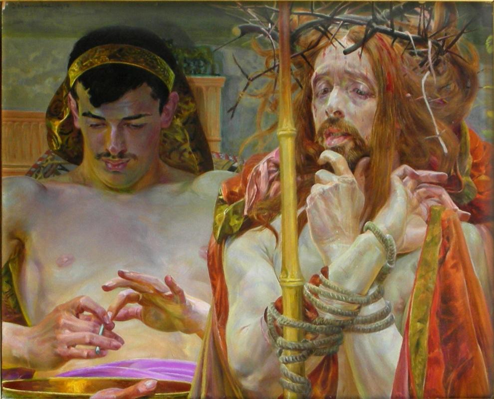 Яцек Мальчевский. Христос перед Пилатом. 1910