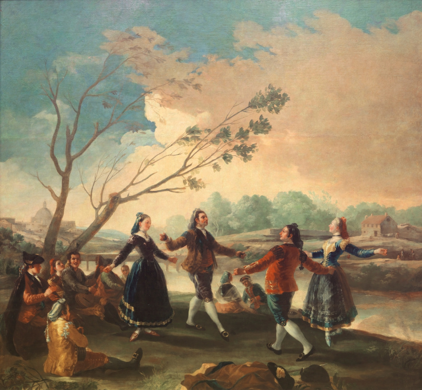 Francisco Goya. Dance on the Banks of the Manzanares