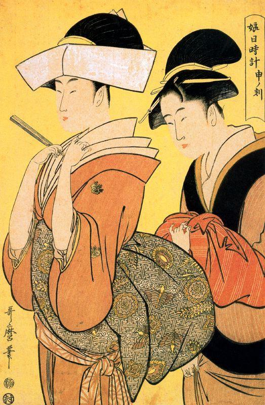 Kitagawa Utamaro. An hour of rain