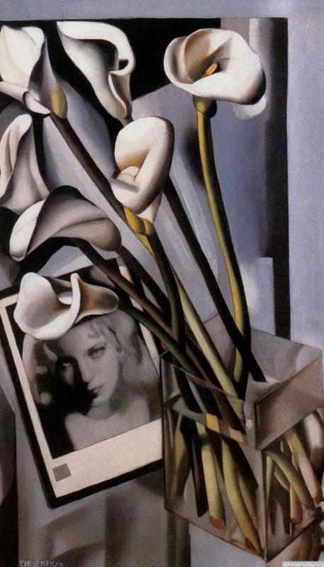 Tamara Lempicka. Still life with portrait of Arlette