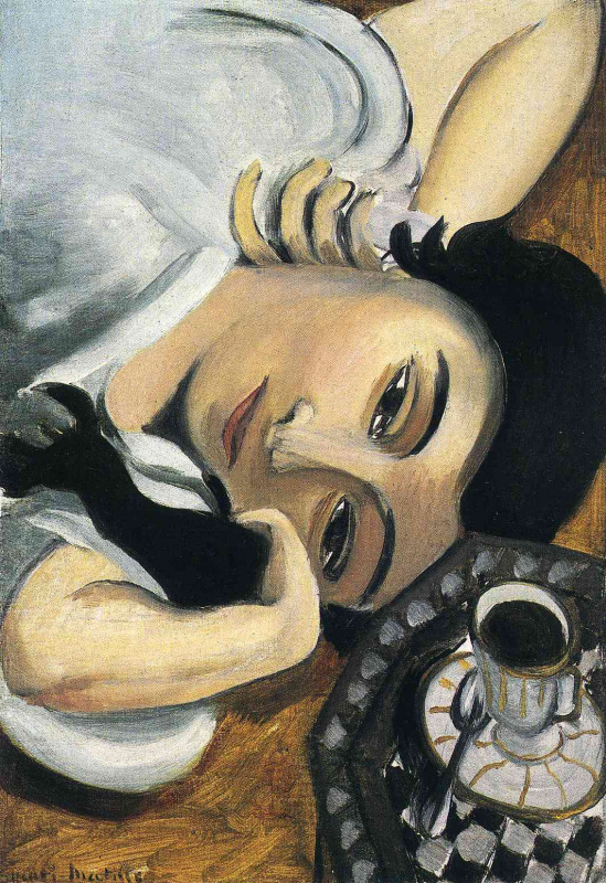 Henri Matisse. Lorette with Cup of coffee