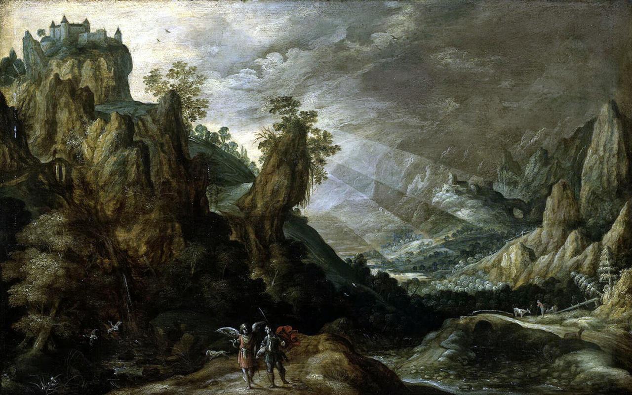 Керстиан де Кейнинк. Пейзаж с Товием и ангелом