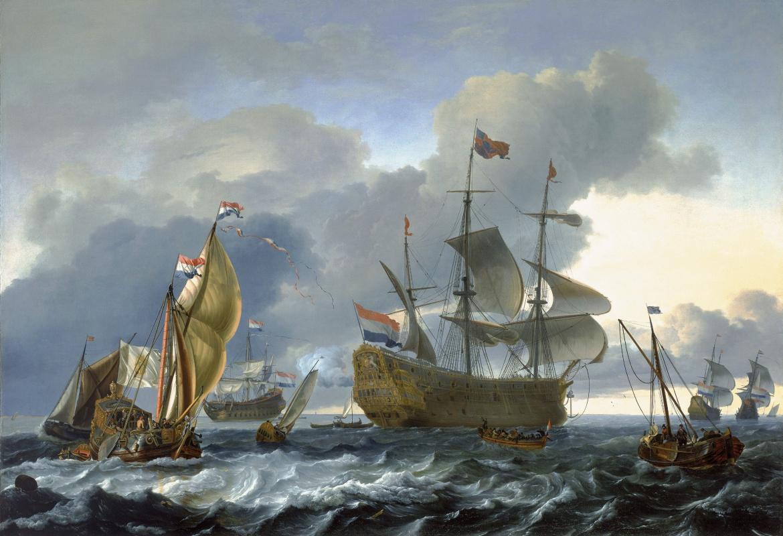 Людольф Бакхёйзен. Атака голландского флота в Медвей