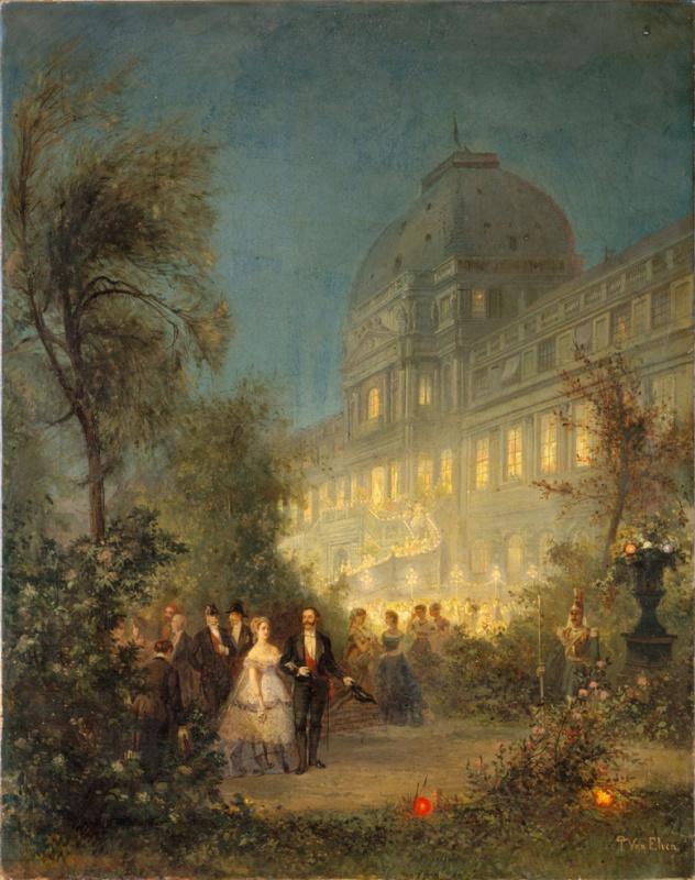 Пьер Тетар ван Эльвен. Ночной бал в Тюильри 10 июня 1867 года по случаю визита иностранных монархов на Всемирную выставку