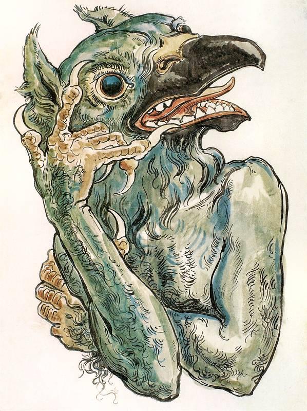 Ян Матейко. Демон с головой птицы. Проект для церкви Святой Марии