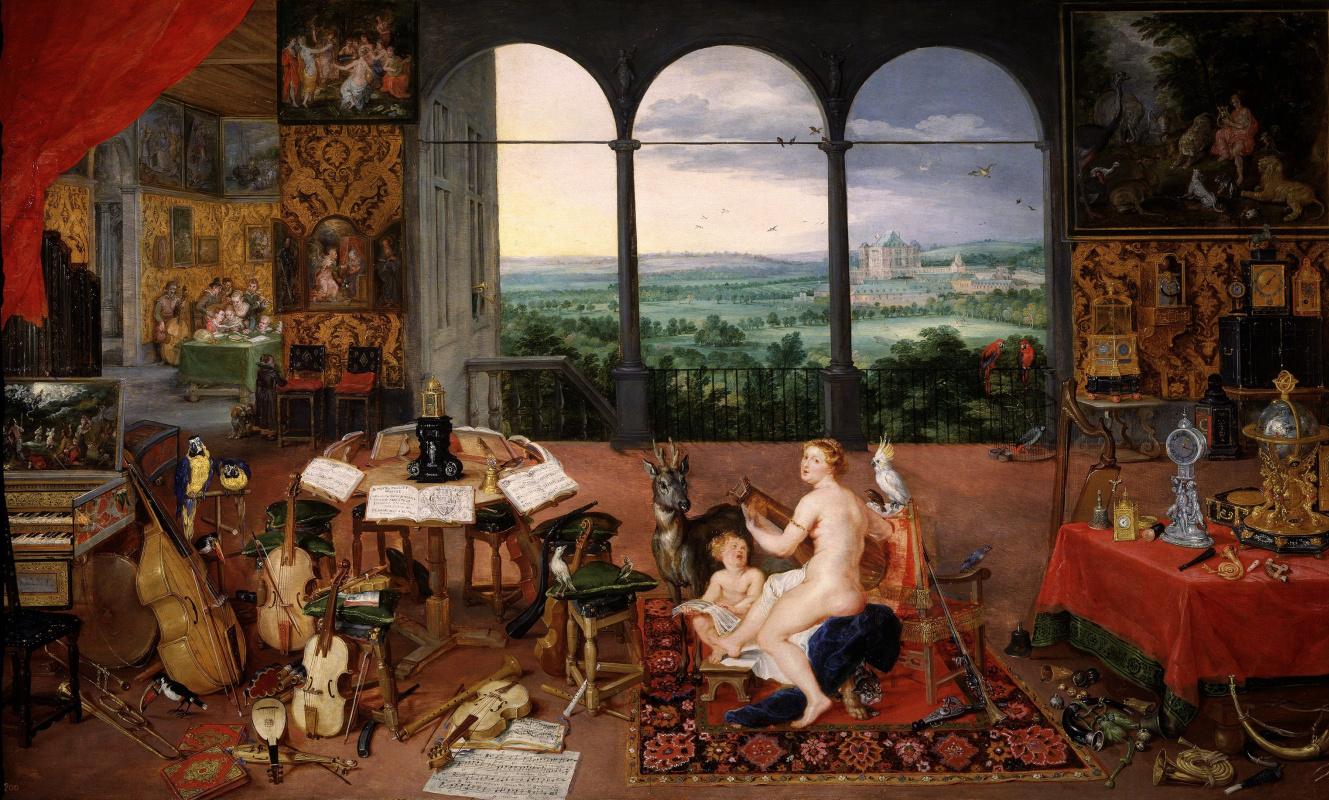 Jan Bruegel The Elder. Hearing