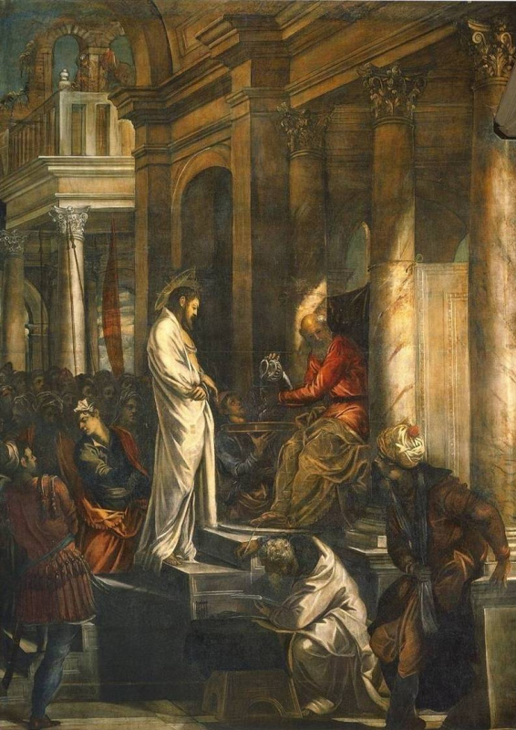 Jacopo (Robusti) Tintoretto. Christ before Pilate