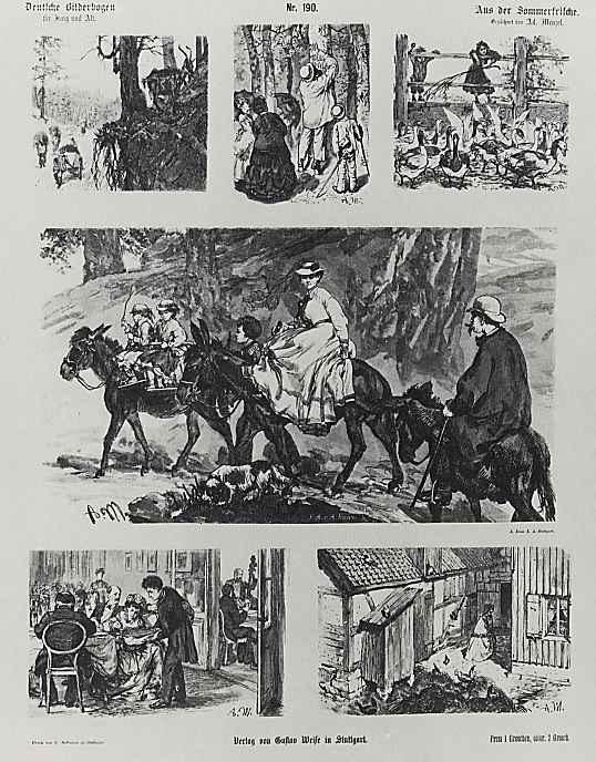 Адольф фон Менцель. Немецкий лубок для старых и малых, Из дачной жизни