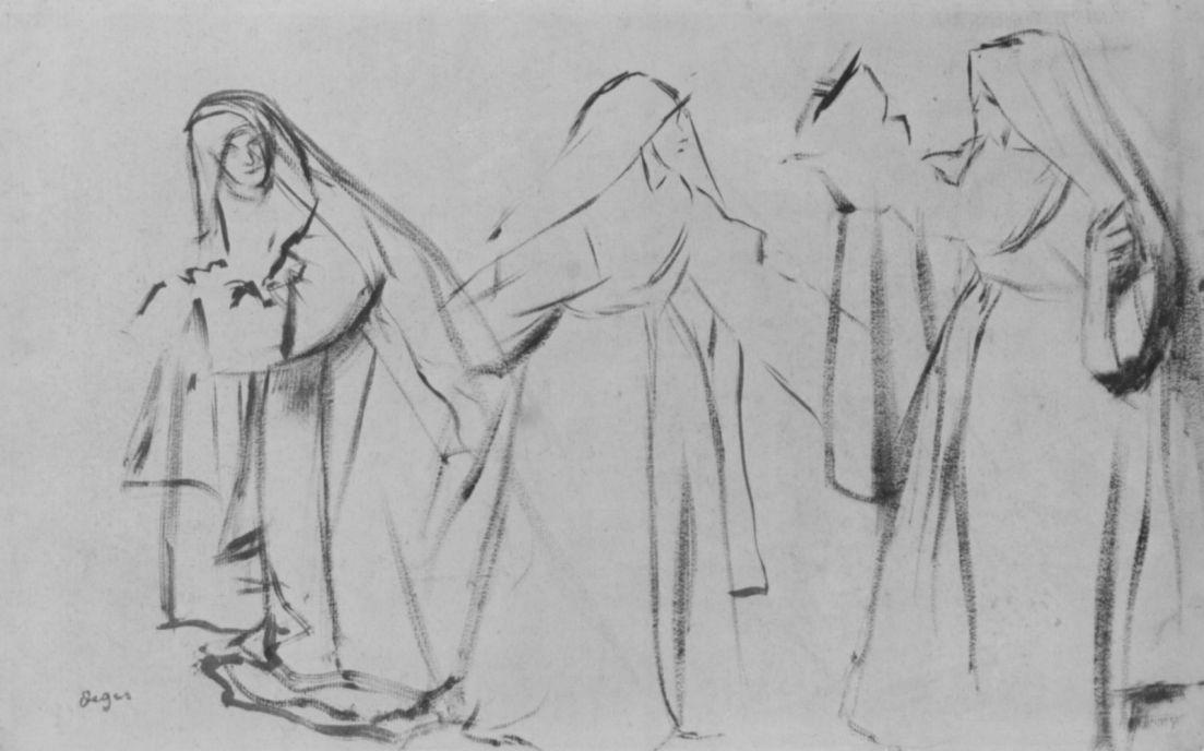 Edgar Degas. Three nuns