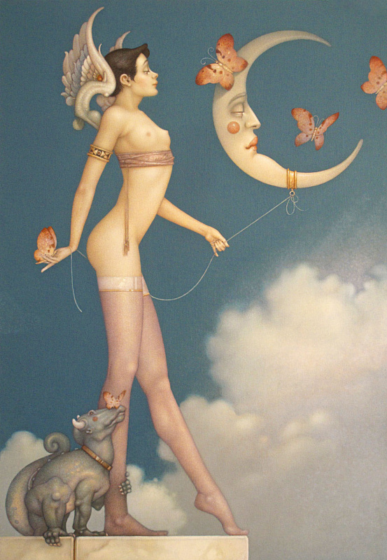Michael Parkes. Moon and butterflies