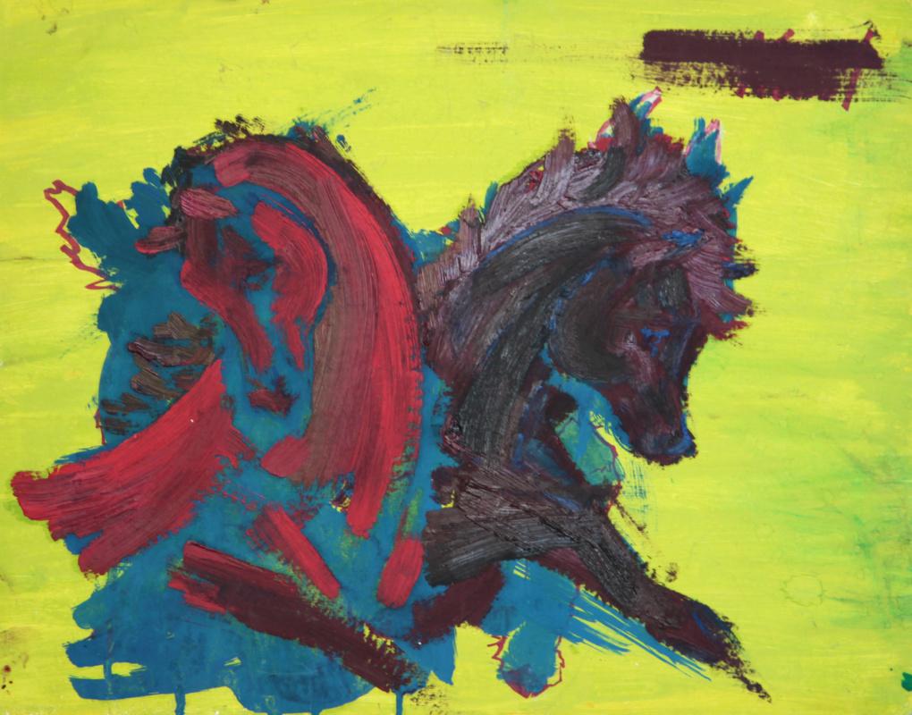 Lenok. The red horse