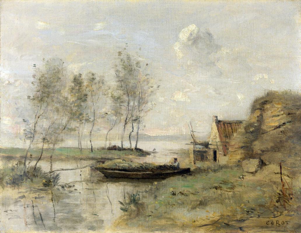 Камиль Коро. Дом у реки