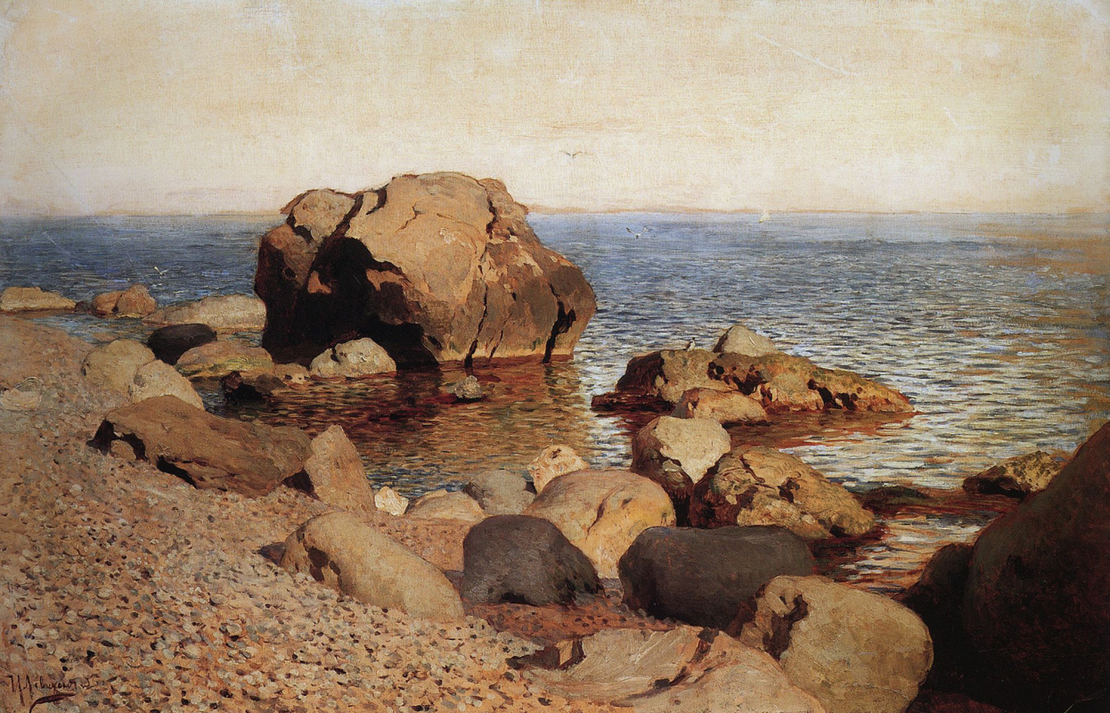Isaac Levitan. At the beach. Crimea