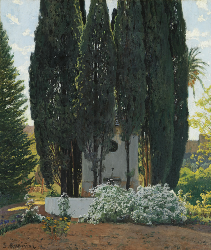 Santiago Rusignol. Cypress fountain