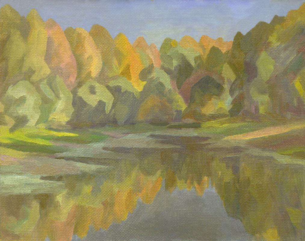 Andrei Ivanovich Borisov. Autumn pond