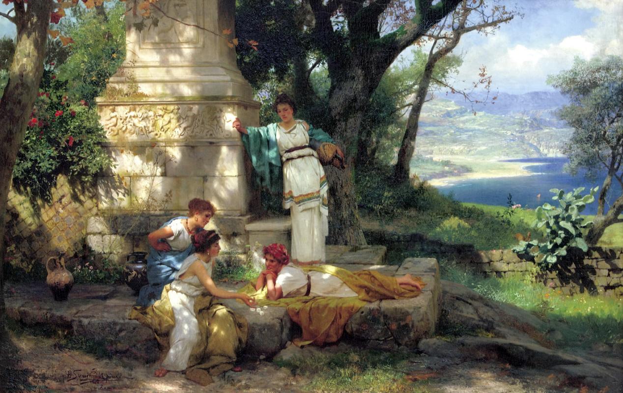Генрих Ипполитович Семирадский. Игра в кости