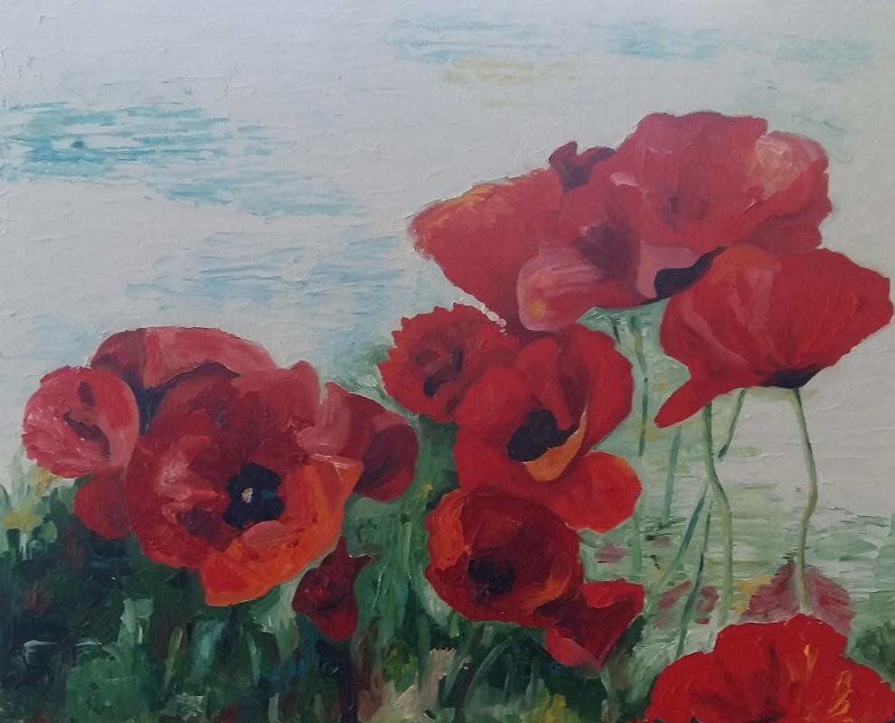 Marianna Borisovna Soina. Poppies