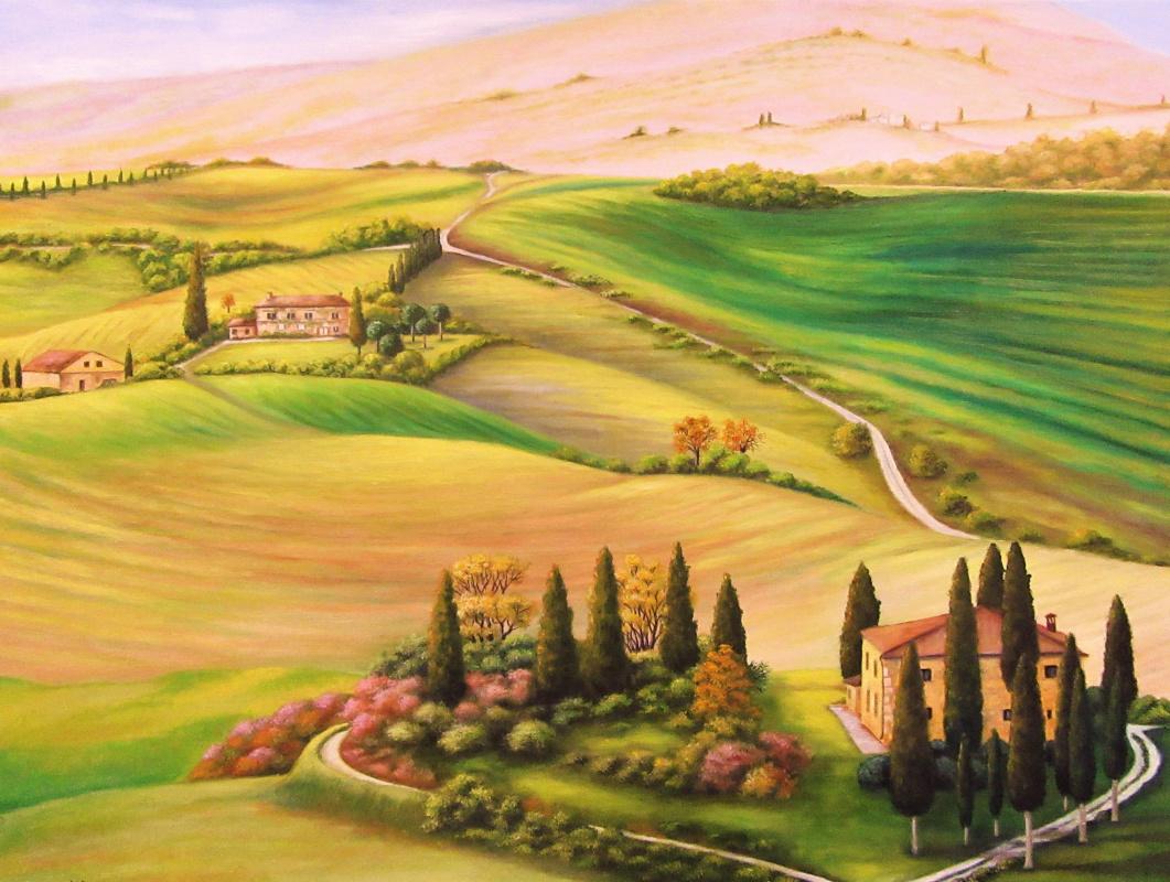 Natalia Viktorovna Tyuneva. Based on the landscapes of Tuscany