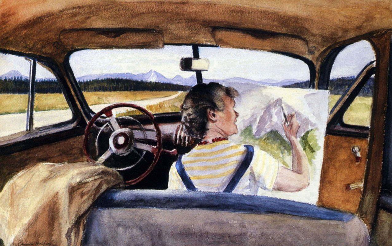 Edward Hopper. Jo in Wyoming