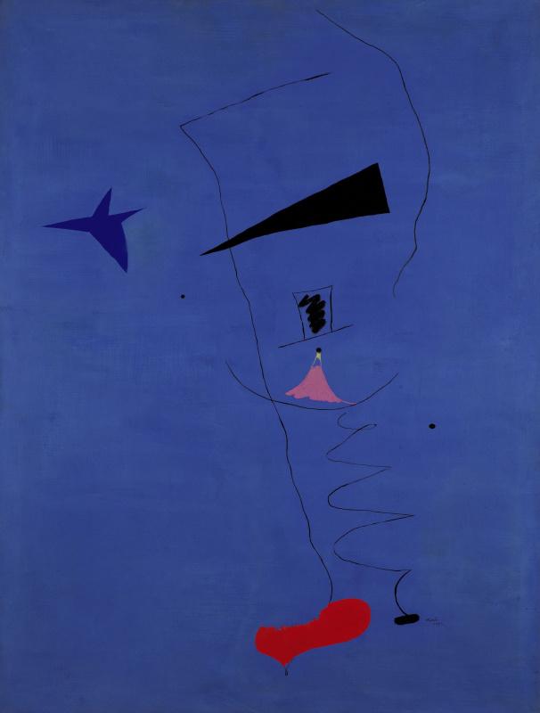 Joan (Joan) Miro. Peinture (Étoile Bleue)