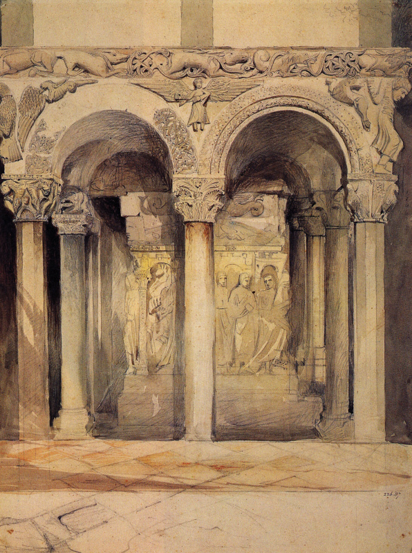 John Ruskin. Chair at the Church of St. Ambrogio