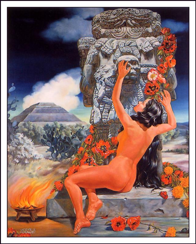 Висенте Моралес. Красные цветы