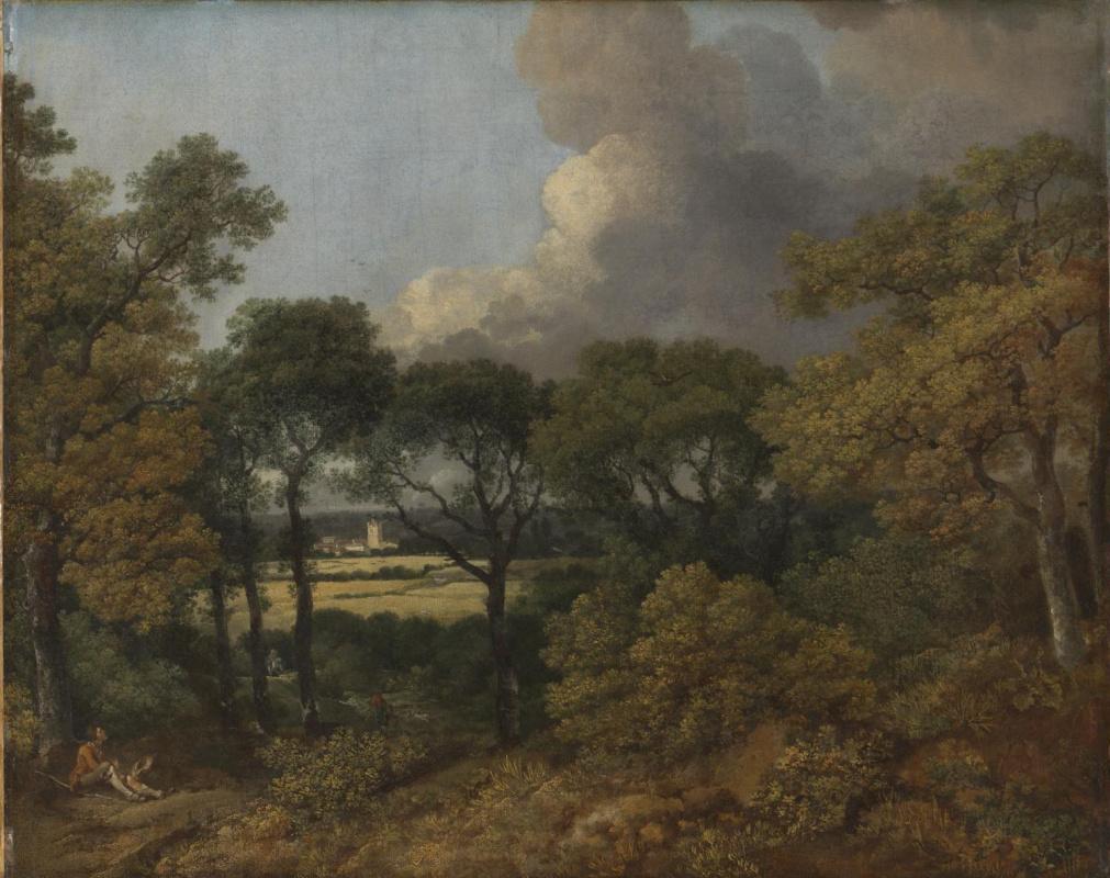 Томас Гейнсборо. Лесной пейзаж с отдыхающим крестьянином