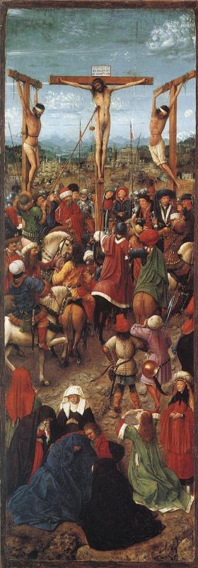 Ян ван Эйк. Распятие на кресте