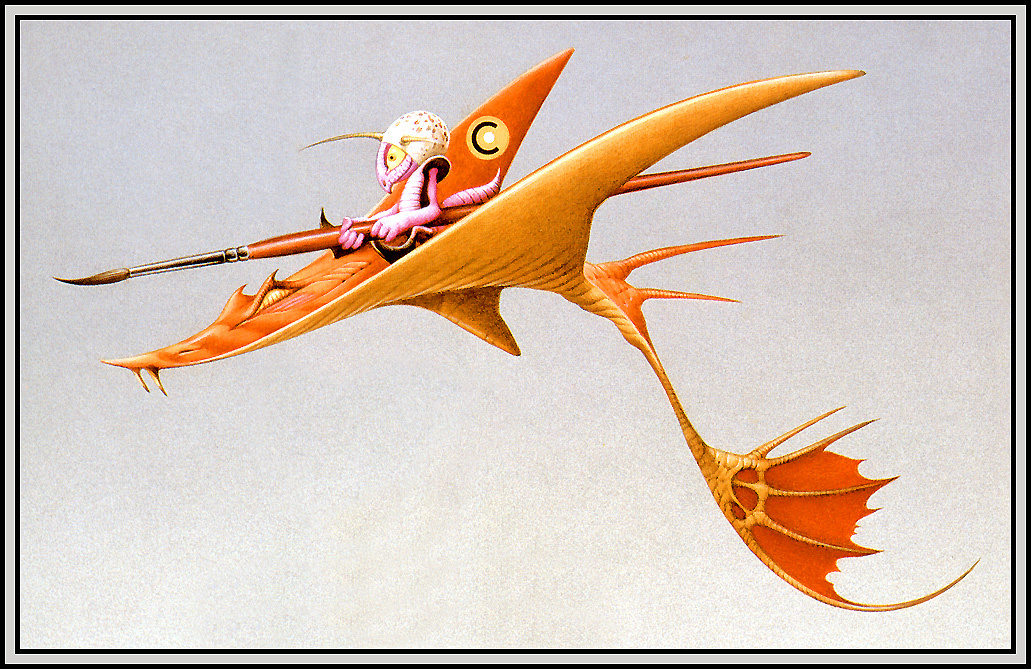 Rodney Matthews. Pilot with brush