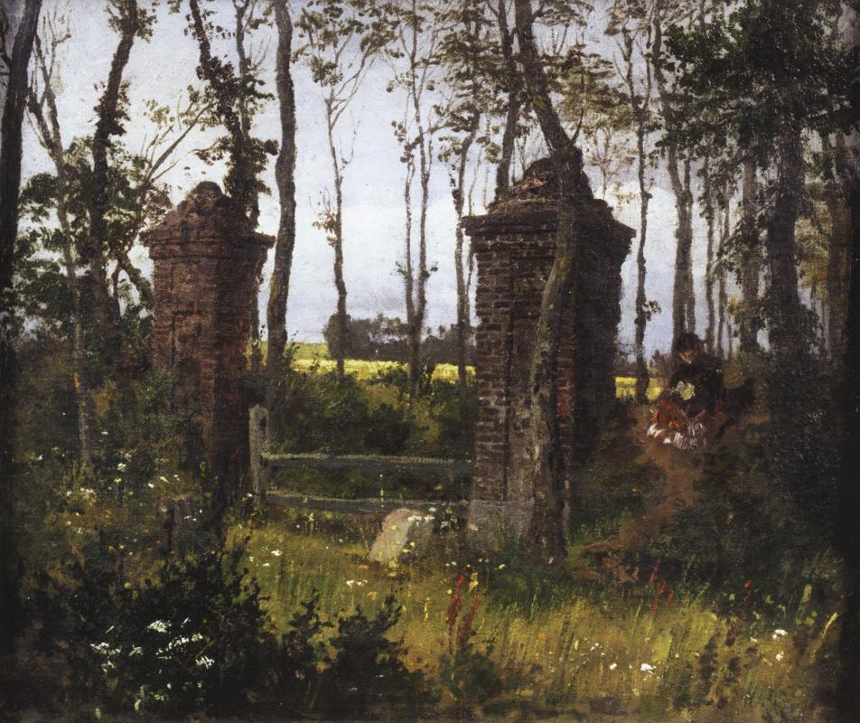 Vasily Polenov. Old gate. Vel. Normandy