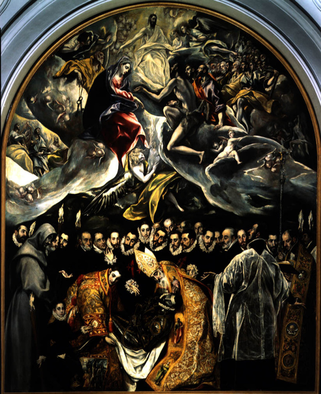 Domenico Theotokopoulos (El Greco). The burial of count Orgaz