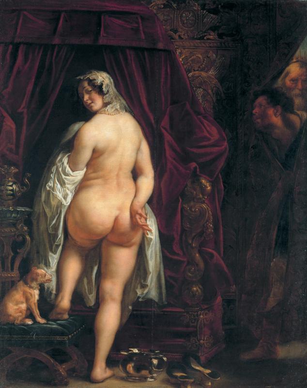 Якоб Йорданс. Kandavl shows his wife Gigesu