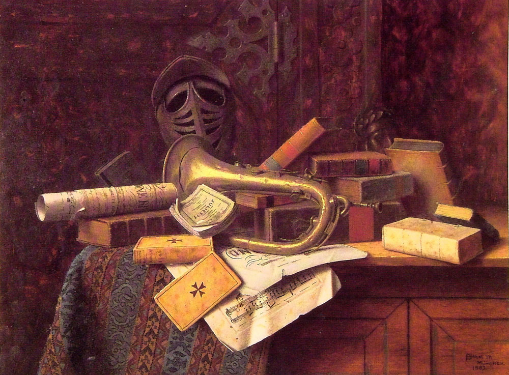 Уильям Майкл Харнетт. Книги на столе