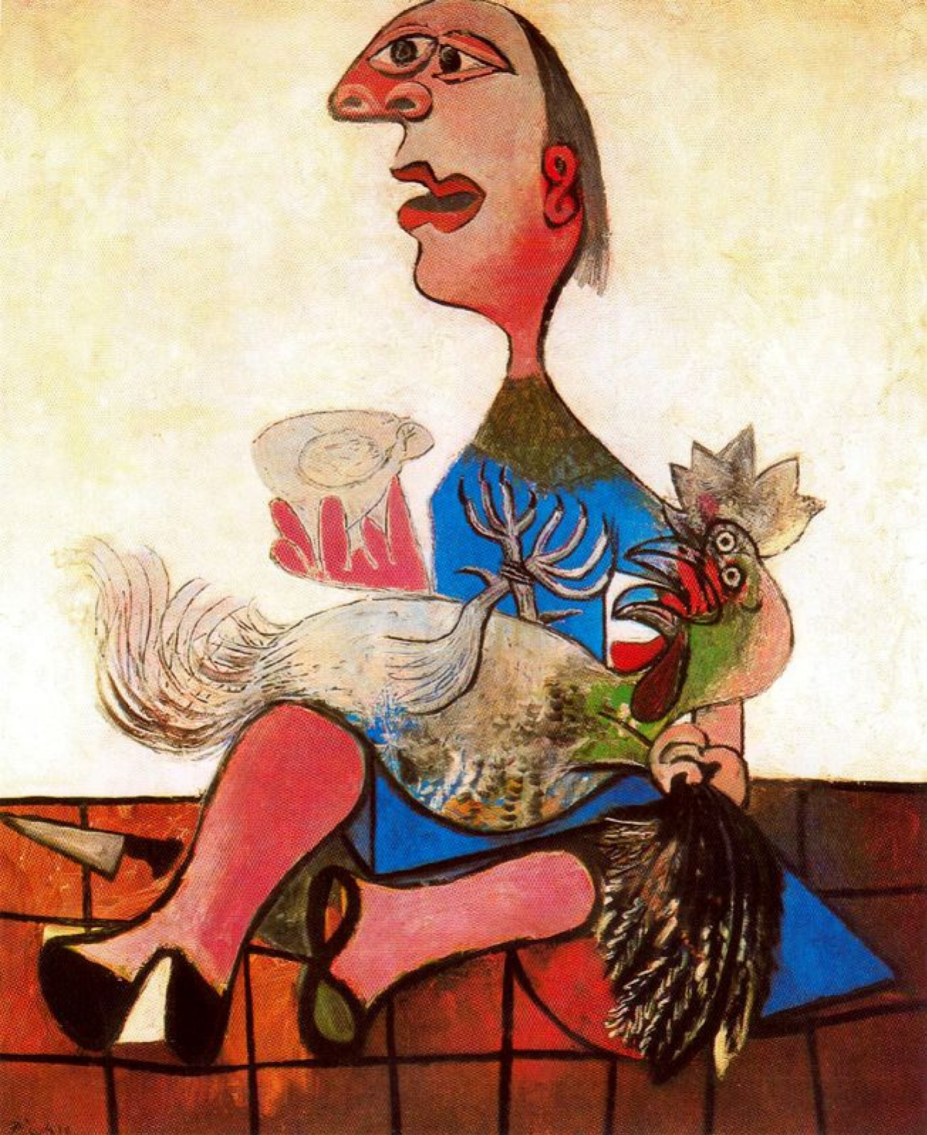 Пабло Пикассо. Женщина с петухом