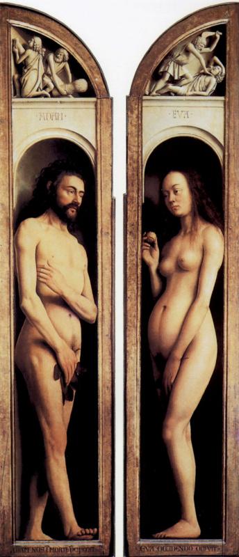 Ян ван Эйк. Адам и Ева