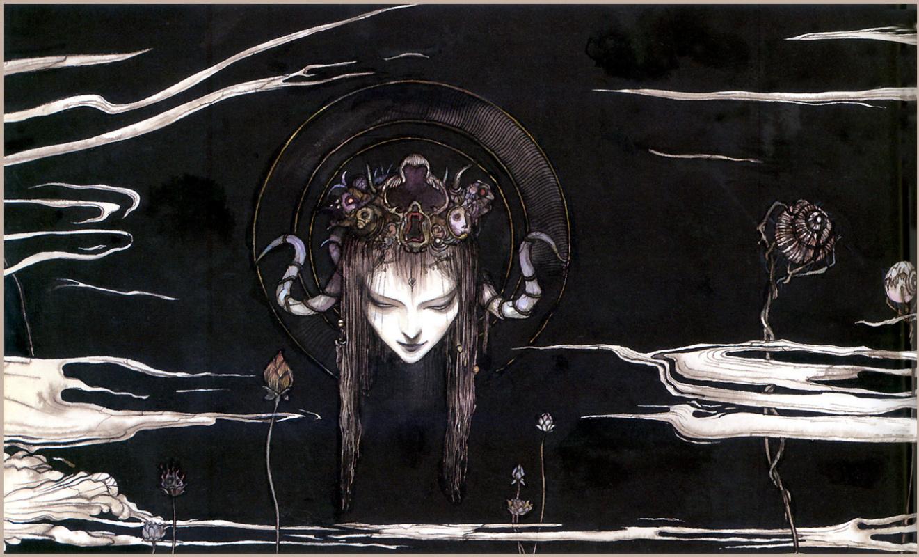 Yoshitaka Amano. Hand drawn fantasy Amano Еситака76