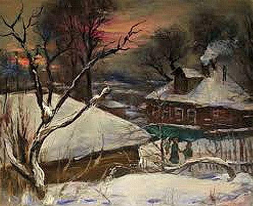 Ivan Ivanovich Zakharov. Landscape. Winter.