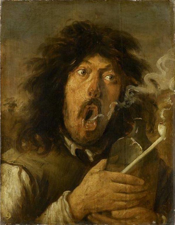 Йос ван Красбек. Курильщик (вероятно, автопортрет)