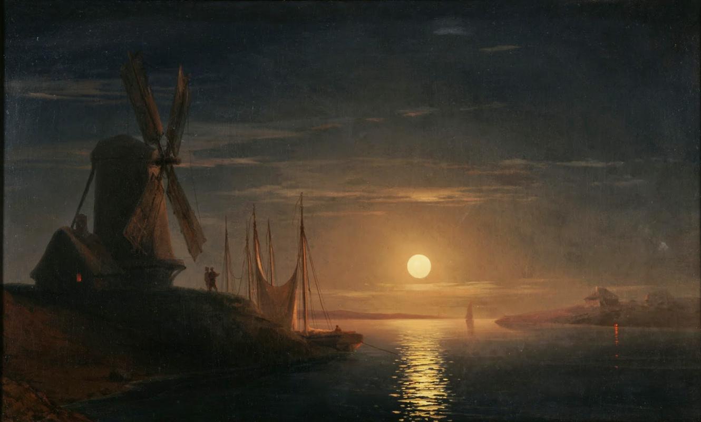 Ivan Aivazovsky. Moonlight over the Dnieper