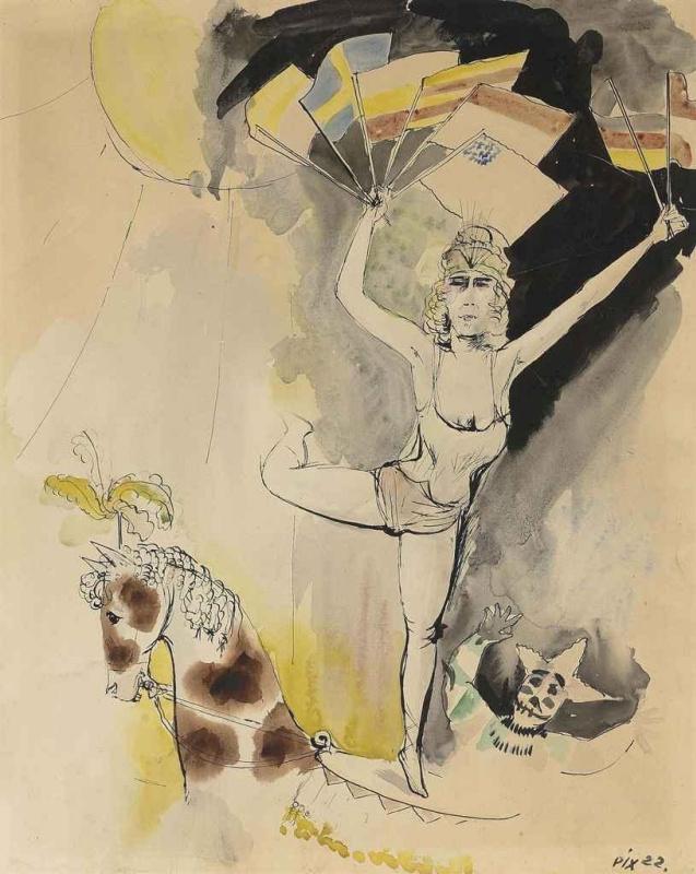 Otto Dix. International Riding Scene