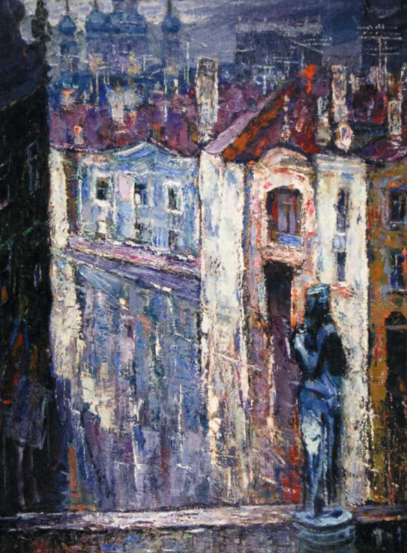 Эдуард Иосифович Базилянский. Дождь в городе