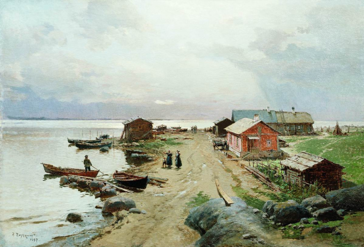 Александр Карлович Беггров. Берег в окрестностях Гапсаля. 1897