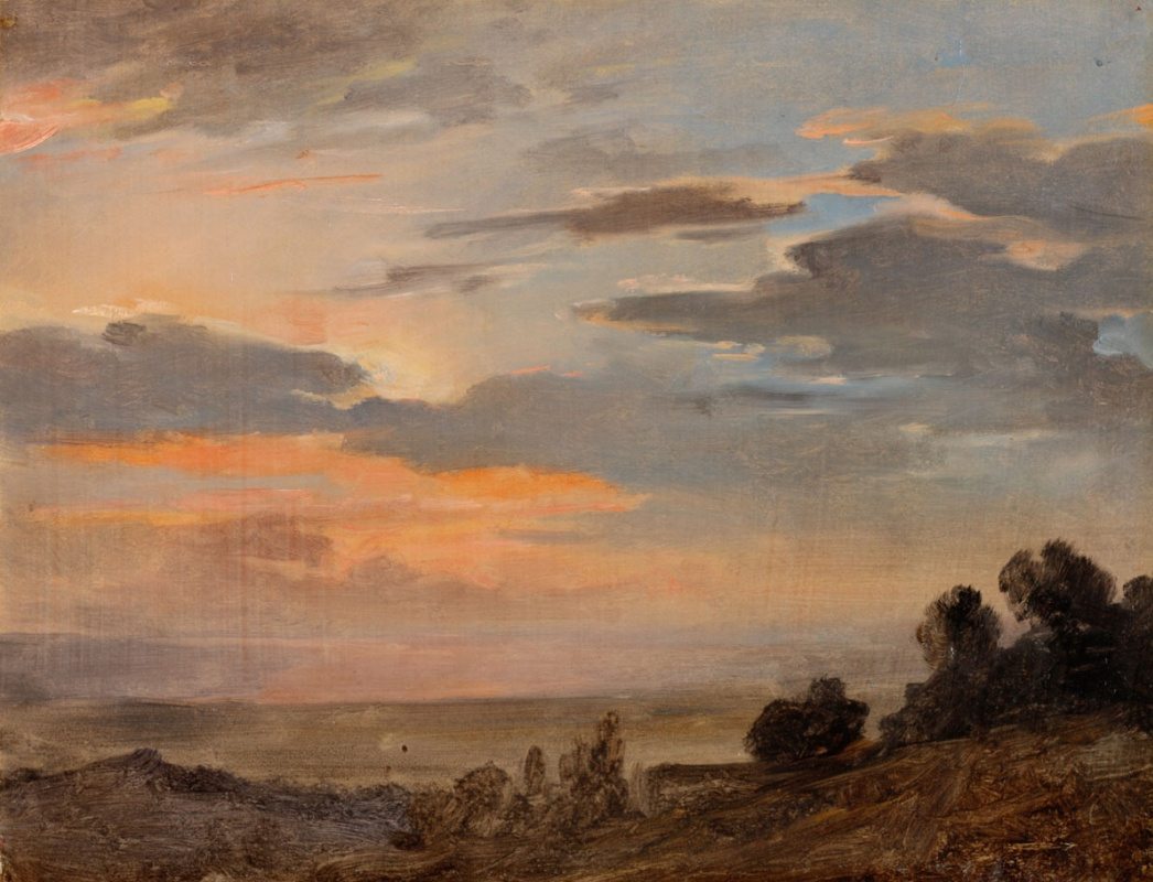 Peter Vasilyevich Basin Russia. Evening clouds. The surroundings of Rome. 1820s