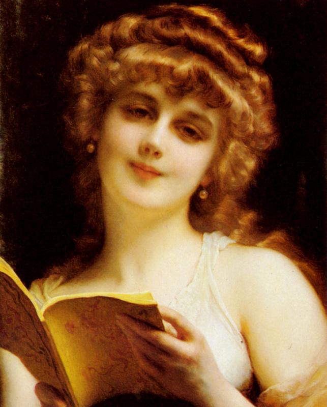Этьен Адольф Пиот. Красивая блондинка держит книгу