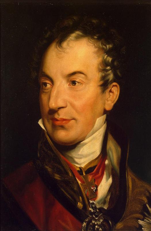 Thomas Lawrence. Portrait Of Metternich