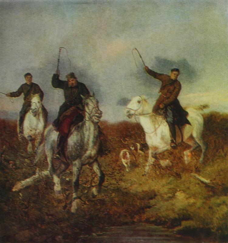 Николай Егорович Сверчков. Псовая охота. 1863